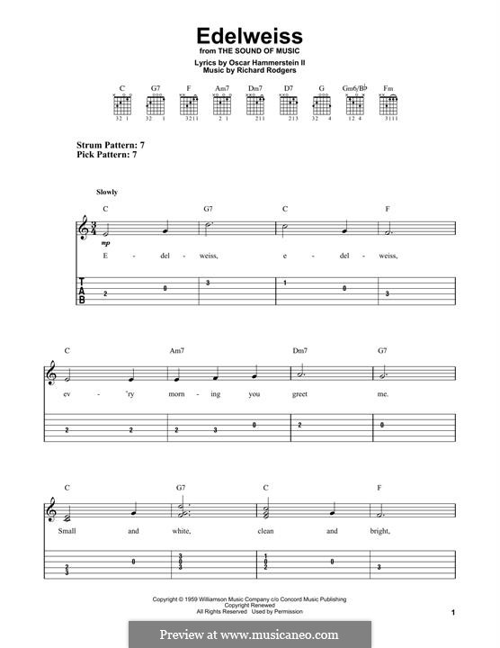 Edelweiss (from The Sound of Music): Para Guitarra by Richard Rodgers
