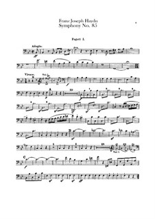 Symphony No.85 in B Flat Major 'The Queen', Hob.I/85: parte fagotes by Joseph Haydn