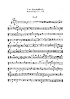 Symphony No.85 in B Flat Major 'The Queen', Hob.I/85: parte trompa by Joseph Haydn