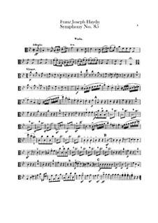 Symphony No.85 in B Flat Major 'The Queen', Hob.I/85: parte viola by Joseph Haydn