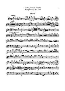 Symphony No.86 in D Major, Hob.I/86: parte de oboes by Joseph Haydn