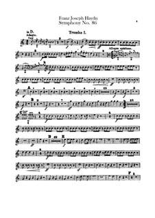Symphony No.86 in D Major, Hob.I/86: parte trompetas by Joseph Haydn