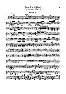 Symphony No.86 in D Major, Hob.I/86: violino parte II by Joseph Haydn