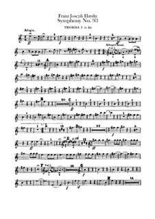 Symphony No.93 in D Major, Hob.I/93: trompeta partes I-II by Joseph Haydn