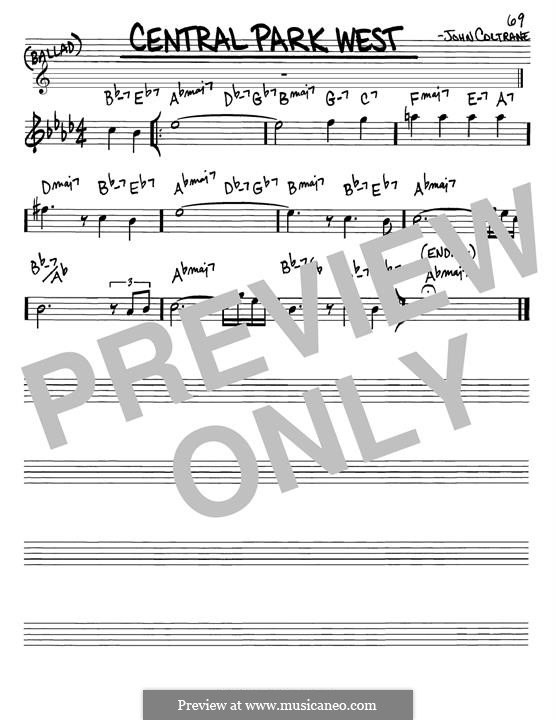 Central Park West: melodia by John Coltrane