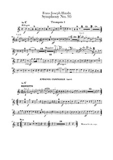 Symphony No.95 in C Minor, Hob.I/95: parte trompetas by Joseph Haydn
