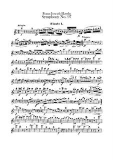 Symphony No.97 in C Major, Hob.I/97: parte de flautas by Joseph Haydn