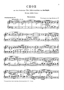The Seasons, Hob.XXI/3: Come Gentle Spring, for Harmonium and Piano – Harmonium Part by Joseph Haydn