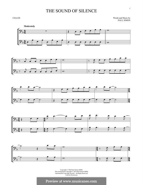 The Sound of Silence (Simon & Garfunkel): para violoncelo by Paul Simon