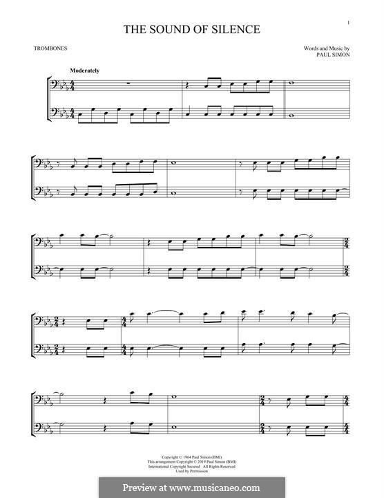 The Sound of Silence (Simon & Garfunkel): para trombone by Paul Simon