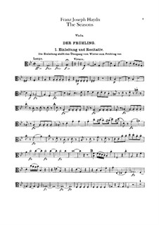 The Seasons, Hob.XXI/3: parte viola by Joseph Haydn