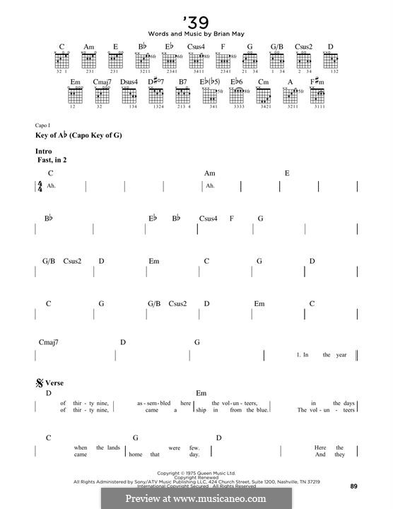 '39 (Queen): Para Guitarra by Brian May
