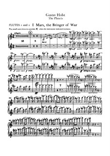 Complete Suite: Flutes I-II part by Gustav Holst