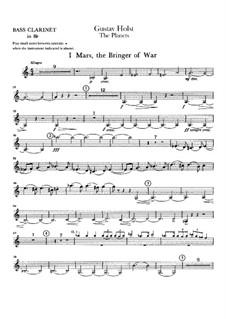 Complete Suite: Parte de clarinete baixo by Gustav Holst