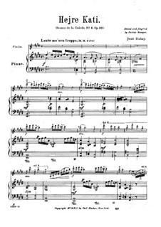 Scènes de la csárda for Violin and Piano, Op.32: No.4 Hejre Kati – score by Jenö Hubay