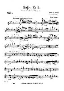 Scènes de la csárda for Violin and Piano, Op.32: No.4 Hejre Kati – solo part by Jenö Hubay