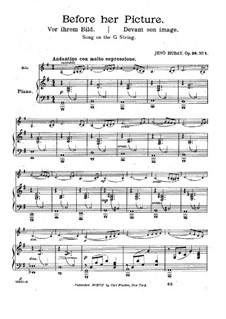 Before Her Picture for Violin and Piano, Op.38 No.1: Before Her Picture for Violin and Piano by Jenö Hubay