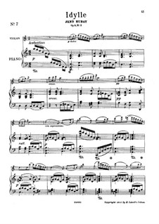 Suite, No.2 'Idyll' for Violin and Piano, Op.5: Score by Jenö Hubay
