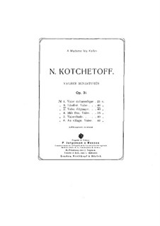 Valses miniatures, Op.31: No.2 Ländler by Nikolai Kochetov