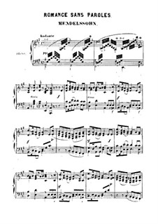 Romance without Words in A Major: Romance without Words in A Major by Felix Mendelssohn-Bartholdy