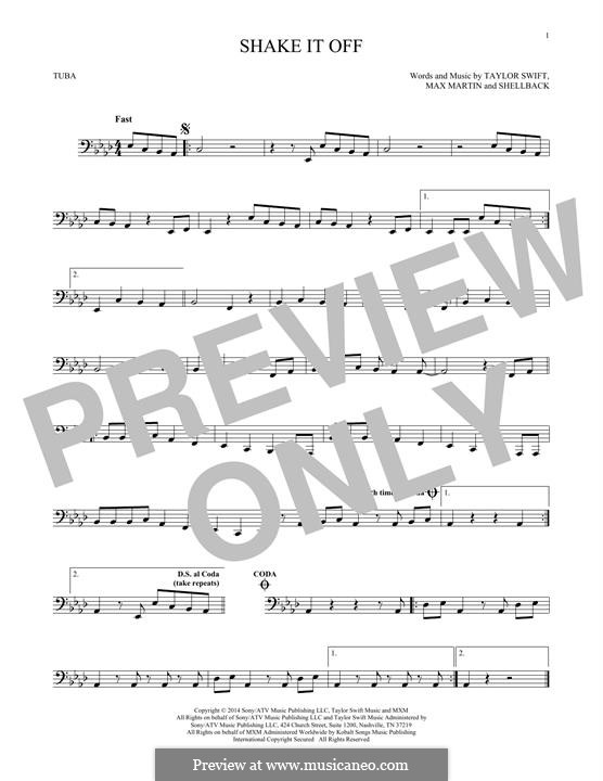 Shake it Off: For tuba by Shellback, Max Martin, Taylor Swift
