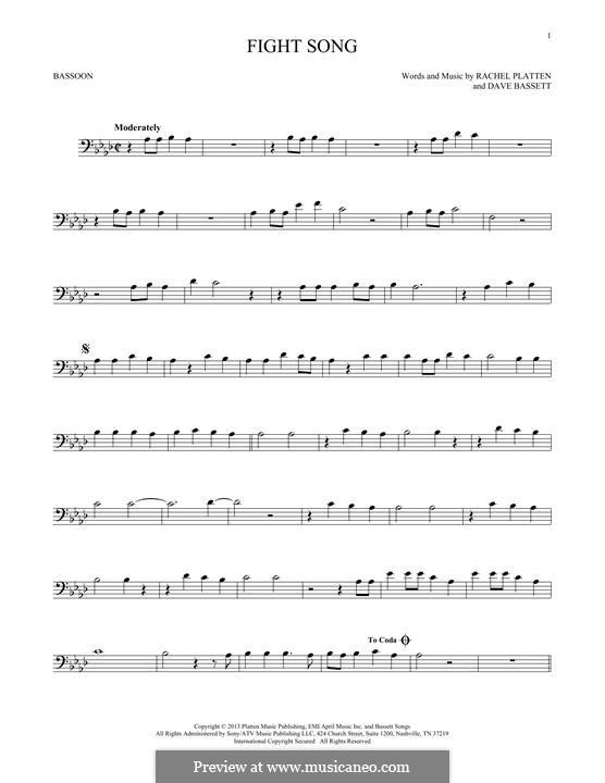 Fight Song: For bassoon by Dave Bassett, Rachel Platten