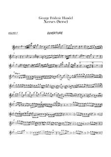 Complete Opera: violino parte I by Georg Friedrich Händel
