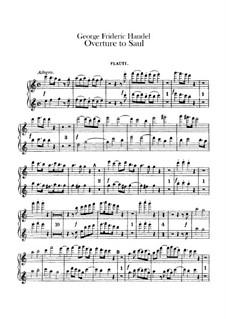 Saul, HWV 53: abertura - parte flautas by Georg Friedrich Händel