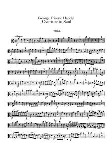 Saul, HWV 53: Abertura - parte viola by Georg Friedrich Händel