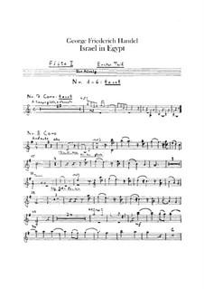 Israel in Egypt, HWV 54: Flautas I-II, partes by Georg Friedrich Händel