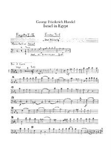 Israel in Egypt, HWV 54: fagotes partes I-II by Georg Friedrich Händel