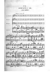 Le bijou perdu: ato II, gravação piano-voz by Adolphe Adam