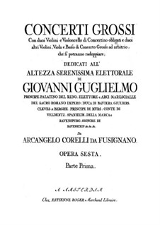 Complete set: Violin II concertino part by Arcangelo Corelli