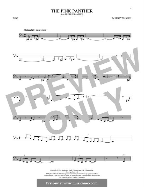 The Pink Panther: For tuba by Henry Mancini