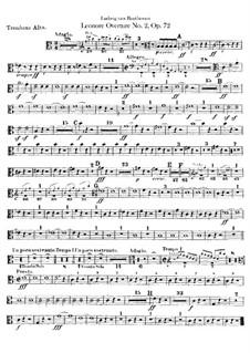 Leonore. Overture No.2 in C Major, Op.72a: parte trombones by Ludwig van Beethoven