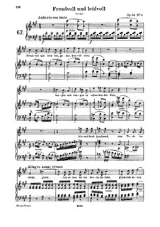 Egmont, Op.84: Joyful and Sorrowful, for voice and piano by Ludwig van Beethoven