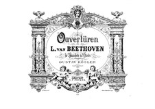 Egmont, Op.84: Overture, for two pianos eight hands – piano I part by Ludwig van Beethoven