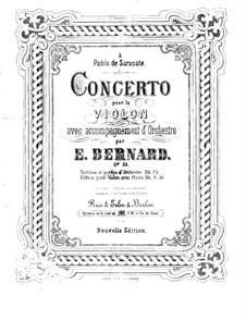 Concerto for Violin and Orchestra in G Minor, Op.29: Parte de solo by Émile Bernard