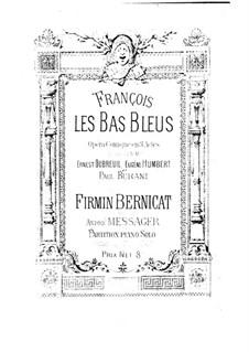 François les Bas-Bleus: versão para piano by Firmin Bernicat