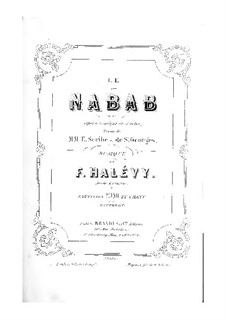 Le nabab: abertura e ato I para solista,coro e piano by Fromental Halevy