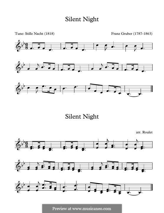 Silent Night (Printable): For marimba by Franz Xaver Gruber
