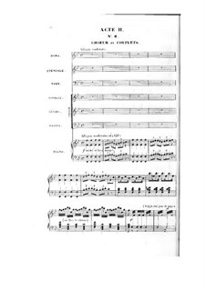 Le nabab: ato II, para solista,coral e piano by Fromental Halevy