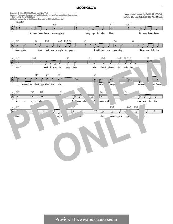 Moonglow: para teclado by Irving Mills, Eddie De Lange, Will Hudson