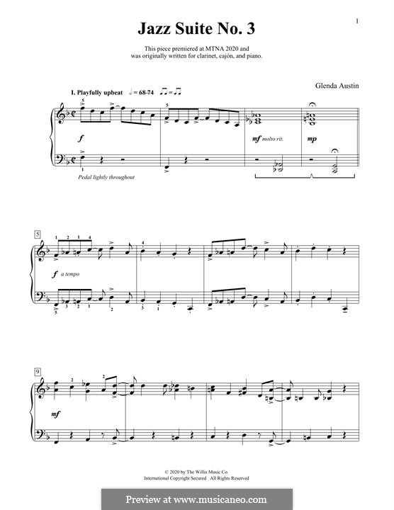 Jazz Suite No.3: Para Piano by Glenda Austin