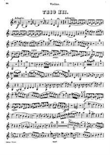 Piano Trio in C Major: parte do violino by Joseph Haydn