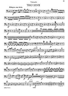 Piano Trio in F Major: parte violoncelo by Joseph Haydn