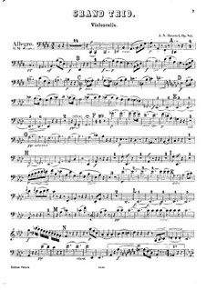 Piano Trio No.6 in E Major, Op.83: parte violoncelo by Johann Nepomuk Hummel