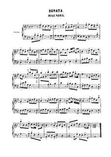 Sonatina in B Flat Major, HWV 585: Para Piano by Georg Friedrich Händel