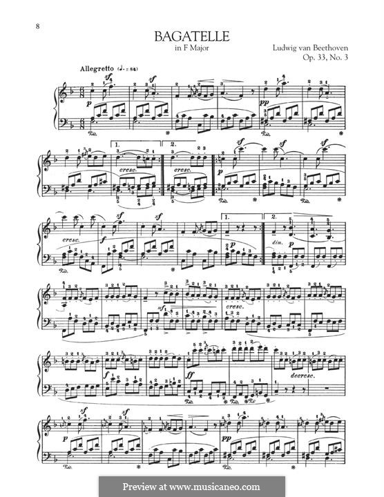 Bagatelles, Op.33: Bagatelle No.3 by Ludwig van Beethoven