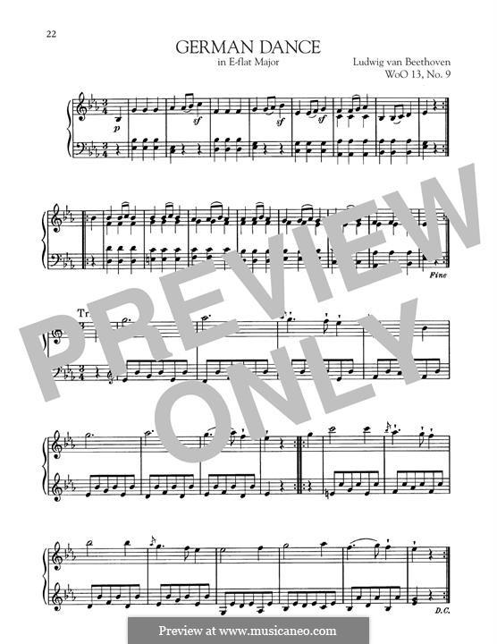 Twelve German Dances, WoO 13: German Dance No.9 by Ludwig van Beethoven